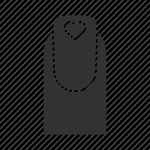 art, heart, manicure, nail, polish, shape, square icon
