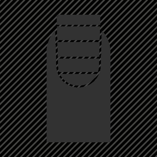 design, manicure, nail, polish, shape, square, striped icon