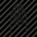 art, design, manicure, nail, polish, broken glass