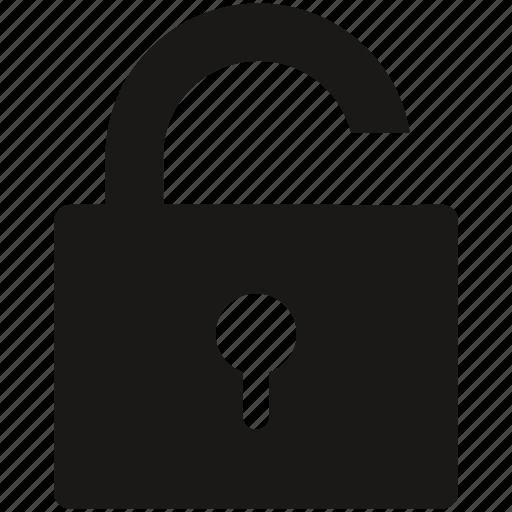 open, password, privacy, secure, unlock icon