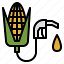 corn, energy, ethanol, fuel, manufacturing, production icon