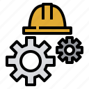 engineer, fix, gear, industry, maintenance, manufacturing icon