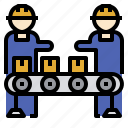 check, control, employee, labor, manufacturing, quality, worker icon