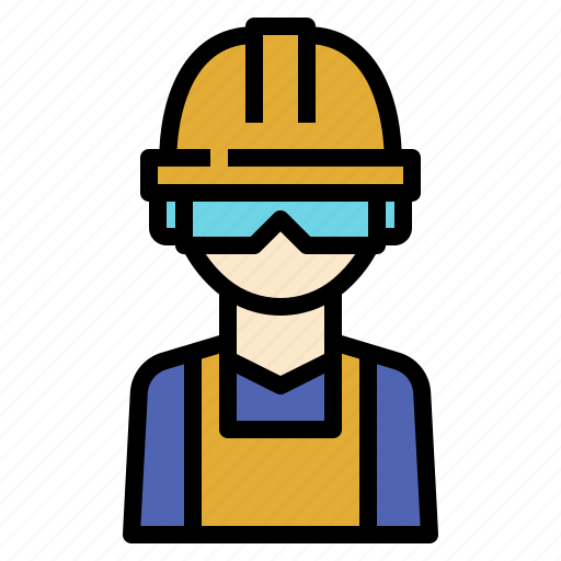 eyes, glasses, industry, manufacturing, protection, safety, worker icon