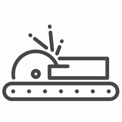 cut, factory, industrial, machine, manufacturing, process, production icon