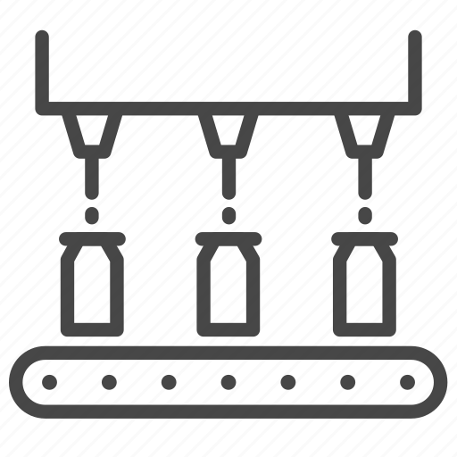 factory, fill, industry, machining, manufacturing, process, production icon