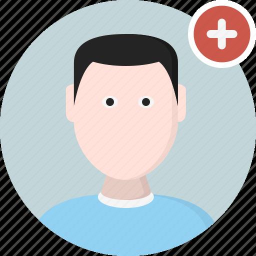 add, avatar, man, men, user icon