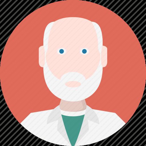 avatar, doctor, men icon