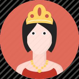 avatar, queen, woman icon