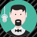 person, men, music, avatar, speaker