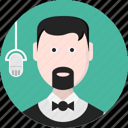avatar, men, music, person, speaker icon