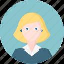 woman, avatar, business