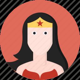 avatar, hero, power, women, wonder icon