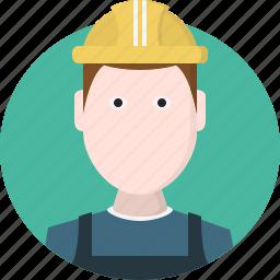 avatar, men, person, worker icon