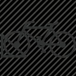 bicycle, bike, parking, traffic, transport, transportation, vehicle icon