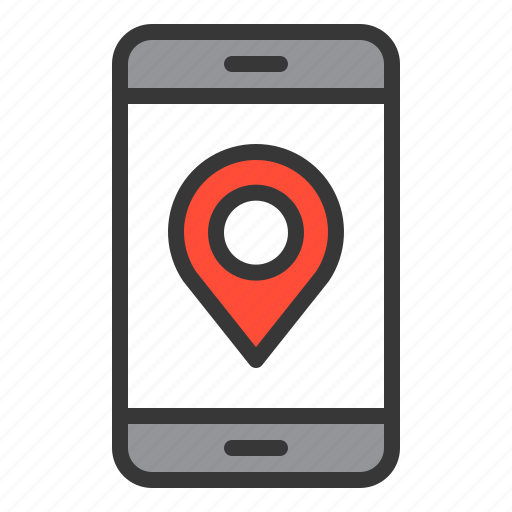 direction, location, map, mobile phone, navigation, pin icon