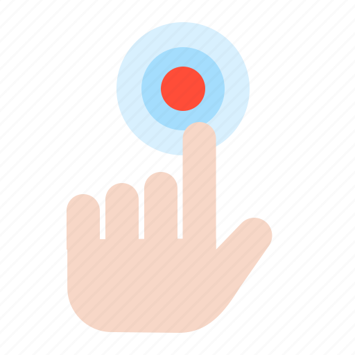 direction, finger, location, map, navigation, pin, press icon
