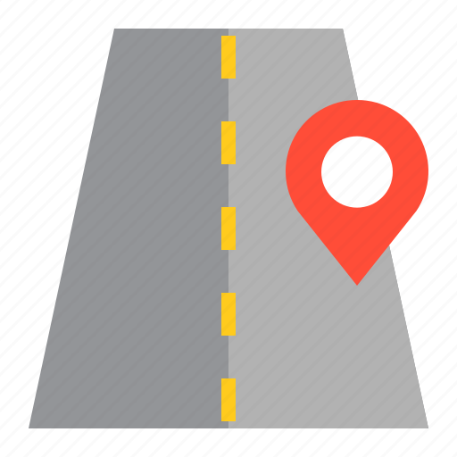 direction, location, map, navigation, pin, road icon