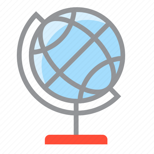 direction, globe, globe with stand, location, map, navigation, pin icon