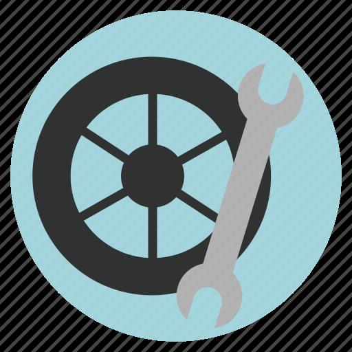 auto repairs, car, car service, tire icon