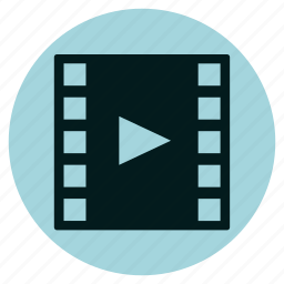 cinema, film, movie, multimedia, play, player, video icon