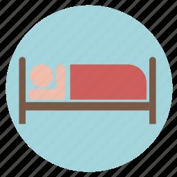 bed, bedroom, city, hostel, hotel, service icon