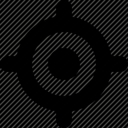 bullseye, gps, location, map, marker, navigation, target icon