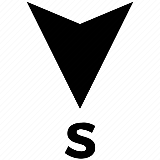 arrow, compas, compass, direction, gps, map, navigation, south icon