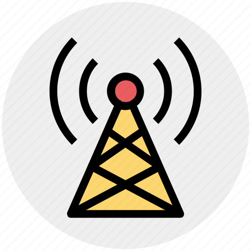 communication, network, signals, tower, wifi signals, wifi tower, wireless icon