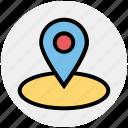 circle, direction, drop, map, marker, navigation, pin icon