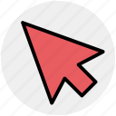 arrow, click, cursor, location, mouse, point, pointer icon