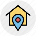 general, home, home position, house, location, pin, position icon