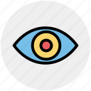 eye, eyeball, human eye, overview, search, view, vision icon
