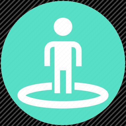 crosshair, direction, location, navigation, user icon