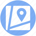 destination, direction, gps, map, road, sign, waymark icon