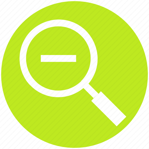 glass, magnifying, minus, out, search, zoom, zoom out icon