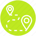 gps, map, marker, navigation, pin, point, route location icon