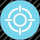 app, aspirations, essential, goal, gun, object, target icon
