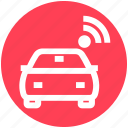 car, internet, signal, smart car, transport, vehicle, wifi icon