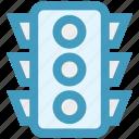 control, navigation, signal, stop, street traffic light, traffic, traffic light icon