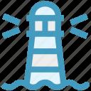 beach building, building, ocean, ocean building, ocean tower, sea light house, sea tower icon