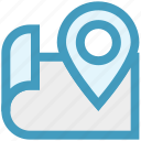 access, map, navigation, point, sign, world icon