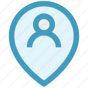 direction, location, location pin, man location, map pin, person location, user placeholder icon