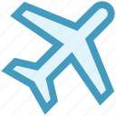 air, airliner, airplane, flight, fly, transportation, travel icon