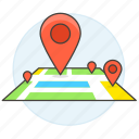 destination, direction, gps, location, map, my, navigation, on, pin, place, places icon