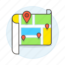 places, location, navigation, pin, map, my, direction, on, place, destination, gps icon
