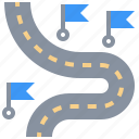 destinations, highway, map, nearby, path, road, transport icon