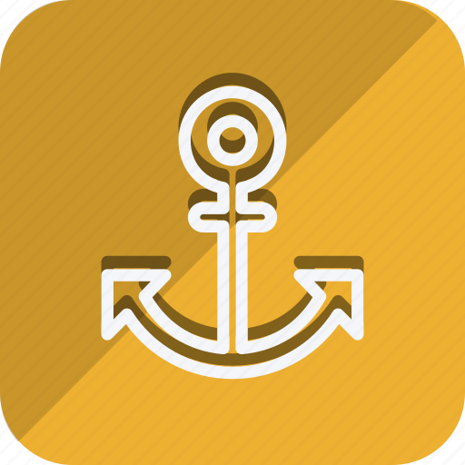 anchor, location, map, marker, navigation, pin, position icon
