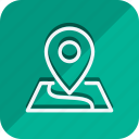 location, map, marker, navigation, pin, position, route icon