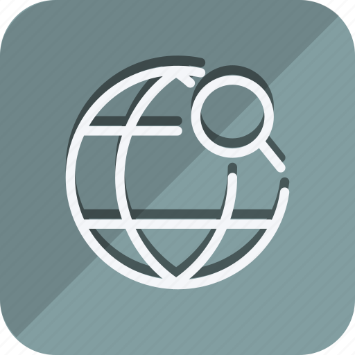 earth, location, map, marker, position, search, world icon